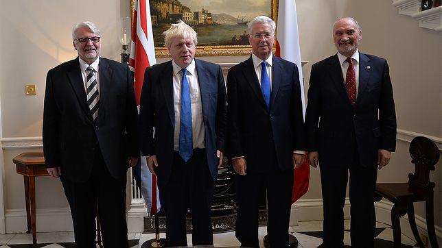Spotkanie szefów resortów obrony narodowej i spraw zagranicznych Polski i Wlk. Brytanii