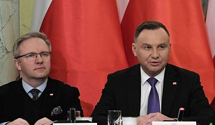 Krzysztof Szczerski i Andrzej Duda.