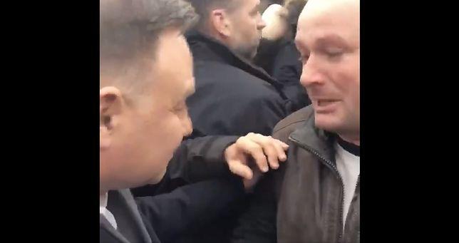 Jacek Niedźwiedź podszedł do Andrzeja Dudy w Łowiczu