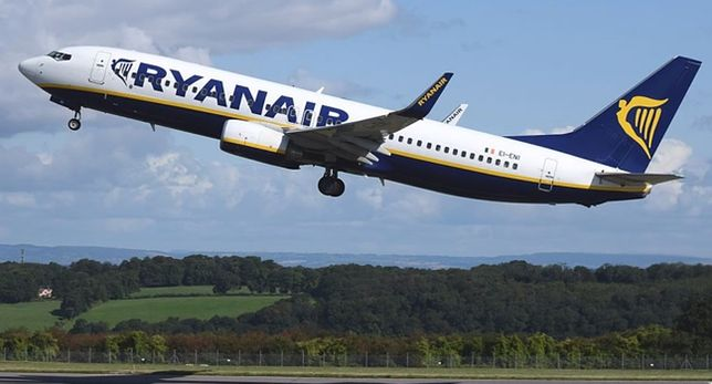 Ryanair jest tanią linią lotniczą z Irlandii