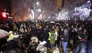 Antyrządowa demonstracja w Serbii