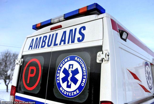 Dwie ranne osoby zostały zabrane do szpitala