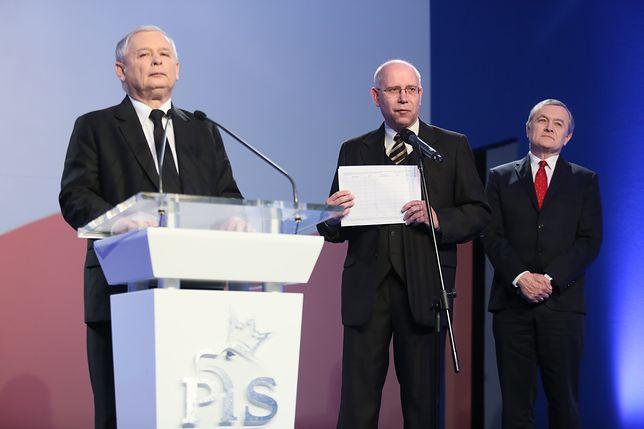 Jarosław Kaczyński, Maciej Świrski  i Piotr Gliński