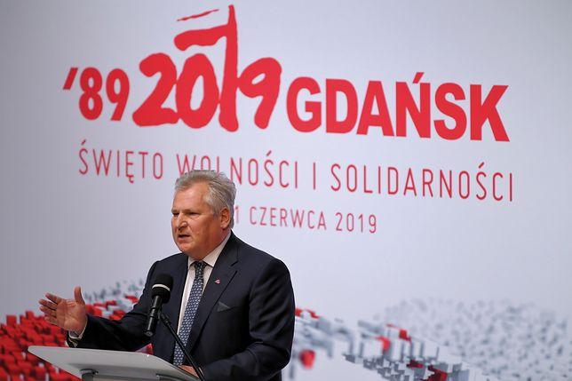 Gdańsk. Obchody 4 czerwca. Aleksander Kwaśniewski wbił szpilę Andrzejowi Dudzie