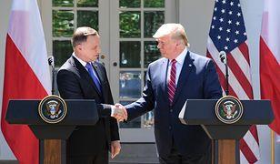 Fort Trump nie powstanie w Polsce? Prezydenci Andrzej Duda i Donald Trump w lipcu 2019 r. w Waszyngtonie