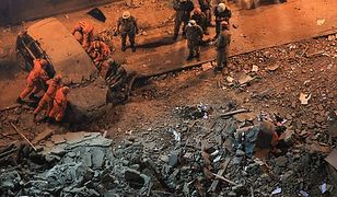 Akcja na miejscu zawalenia się budynków