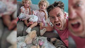 Tata pokazuje trudy wychowania dzieci. Ludzie go pokochali (WIDEO)