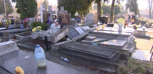 Pracownicy zakładu kamieniarskiego niszczyli groby (WIDEO)