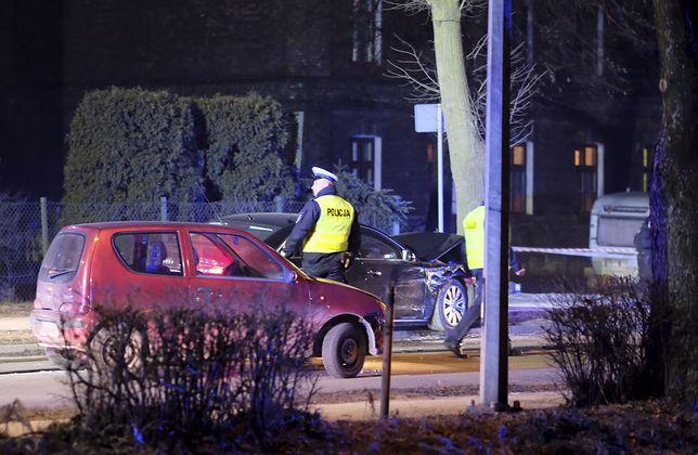 Wypadek premier Szydło. Na zdjęciu seicento, które brało udział w kolizji