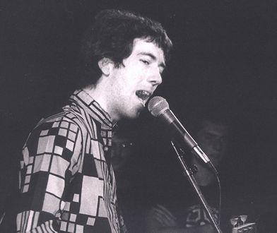 Pete Shelley z Buzzcocks podczas koncertu w Londynie, 1978 r.