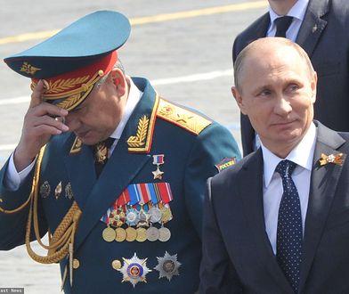 Prezydent Władimir Putin i szef rosyjskiego resortu obrony Siergiej Szojgu