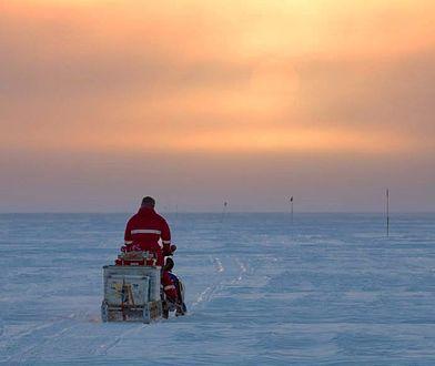 """""""Północ na Antarktydzie. Latem słońce nie zachodziło przez ponad dwa miesiące. Zostaliśmy obdarowani takim światłem, gdy wracaliśmy do stacji po dwóch miesiącach obserwacji kolonii pingwinów cesarskich."""" Instagram Lindsay'a McCrae."""