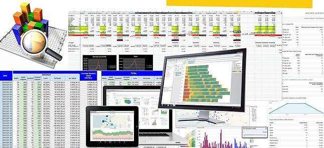 Paleta możliwości wizualizacji danych