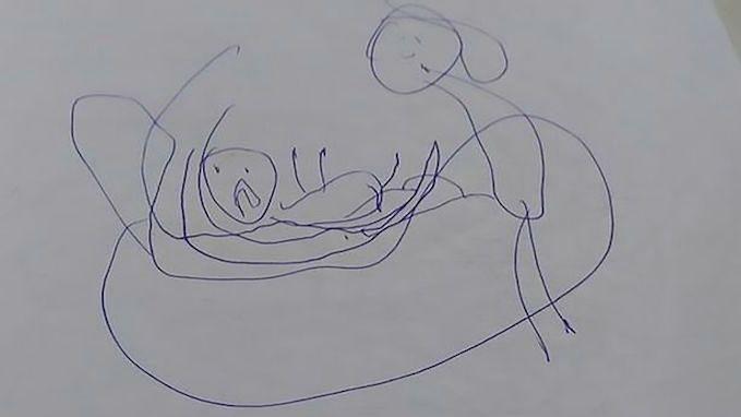 Rysunek, który wykonała 5-latka