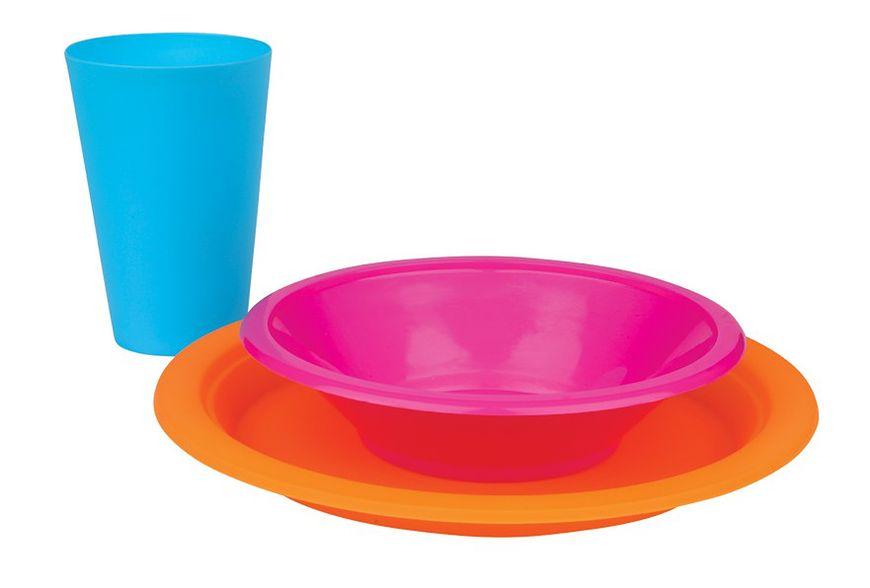 Zestaw talerzy z plastiku