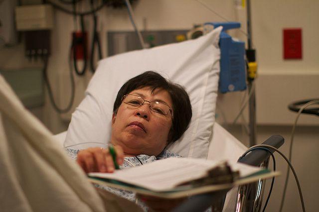 Pacjentka w czasie histeroskopii