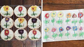 Mama piecze chleb inspirowany rysunkami swojego syna