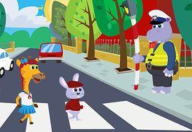 Pan policjant - zachowanie na pasach