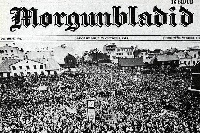 Protest w Islandii w 1975 roku
