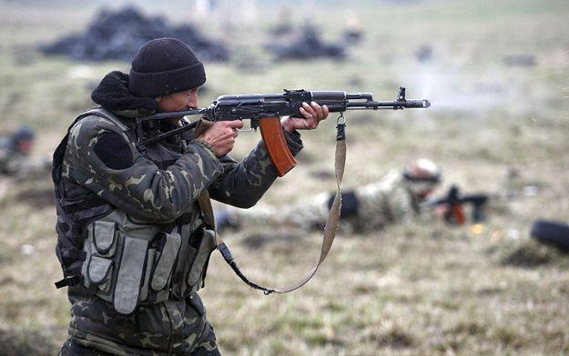 Ćwiczenia ochotniczego batalionu Donbas, okolice Mariupola