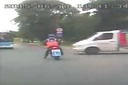 Refleks uratował motocyklistę i zapewnił zdany egzamin