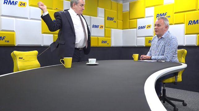 Wicepremier Piotr Gliński wyszedł ze studia RMF FM. W rozmowie z WP tłumaczy dlaczego.