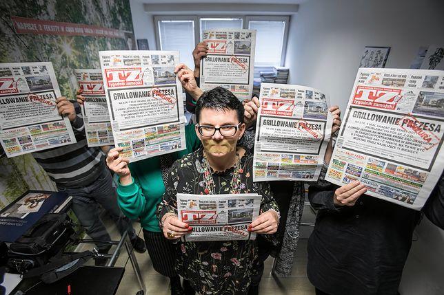 """Protest dziennikarzy """"Tygodnika Zamojskiego"""""""