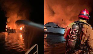 Pożar łodzi koło Los Angeles. Jest wiele ofiar śmiertelnych