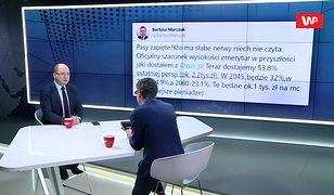 Bartosz Marczuk pokazał porażające wyliczenia z ZUS. Reakcja Adama Bielana
