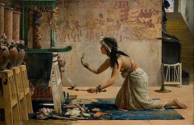 Obraz Johna Reinharda Weguelina pt. Pogrzeb egipskiego kota