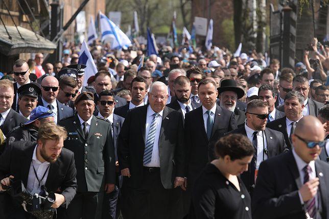 Prezydenci Polski i Izraela podczas Marszu Żywych