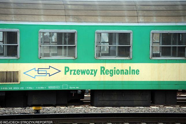 Butelki poleciały w pociąg relacji Malbork-Działdowo