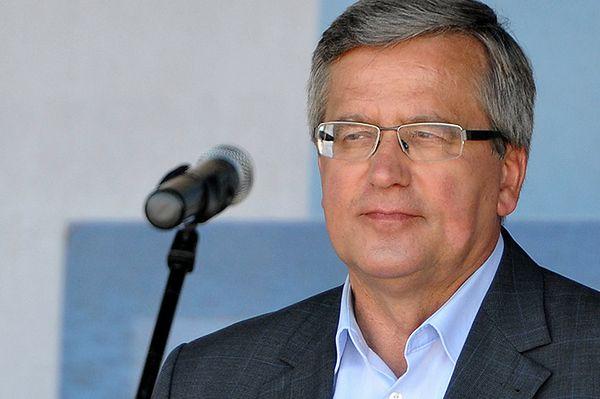 Bronisław Komorowski: pożaru nie gasi się dolewaniem benzyny do ognia