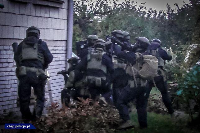 Akcja CBŚP w woj. mazowieckim, fot. Centralne Biuro Śledcze Policji