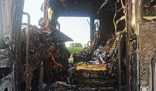 Kabina się stopiła. Potężny pożar na S8