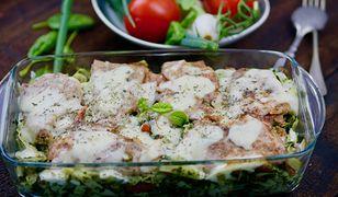 Włoska zapiekanka poleca się na obiad