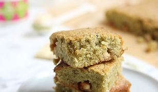 Matcha blondies. Ekspresowe ciacho do kawy