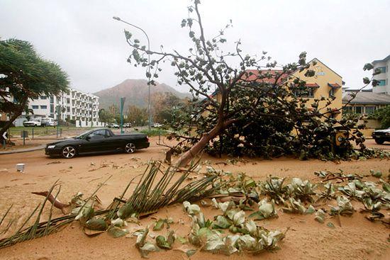 Totalne spustoszenie po przejściu cyklonu
