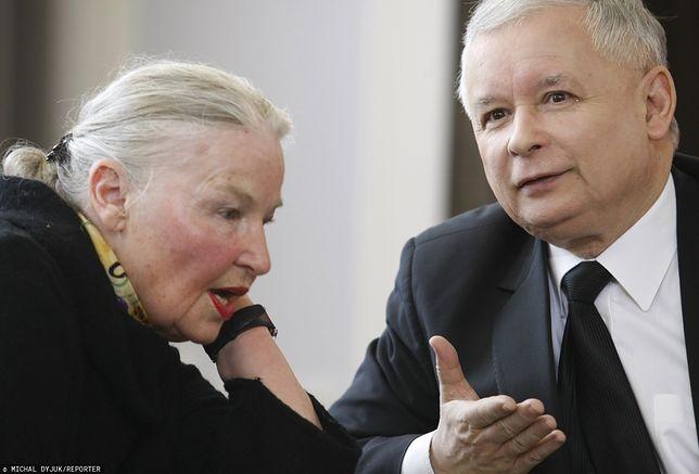 Prof. Jadwiga Staniszkis oraz Jarosław Kaczyński (zdj. arch.)