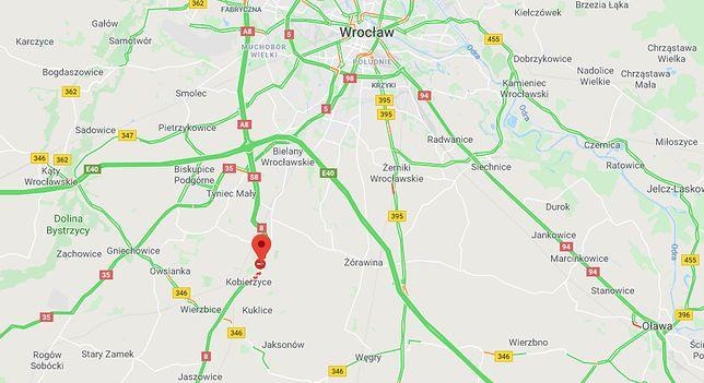 Kobierzyce pod Wrocławiem. Śmiertelny wypadek na trasie do Kłodzka