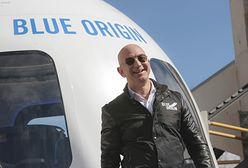 Jeff Bezos w kosmosie. Oto test lotu turystycznego
