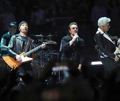 Zespół U2 podczas koncertu w Madison Square Garden.
