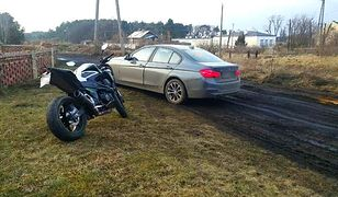 Nieoznakowane BMW ściga kradziony motocykl. Brawurowa akcja drogówki z Gorzowa