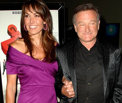 2009 rok: Robin Williams i Susan Schneider Williams na premierze filmu