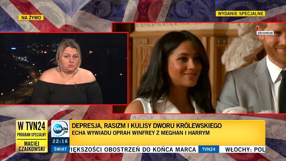 Dr Wioletta Wilk-Turska powiedziała, że mówienie przez Meghan o depresji było żenujące