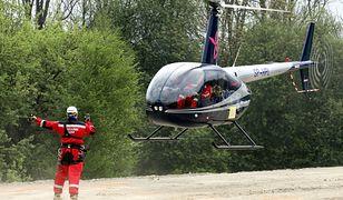 Mężczyzna został opatrzony na miejscu i przetransportowany śmigłowcem do szpitala