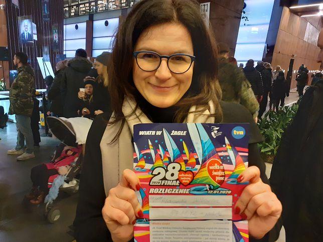 28. finał WOŚP 2020. Aleksandra Dulkiewicz pochwaliła się wynikiem zbiórki