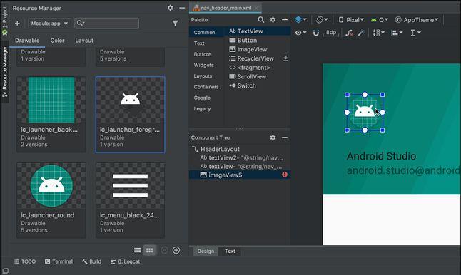 Menedżer zasobów w Android Studio 3.4