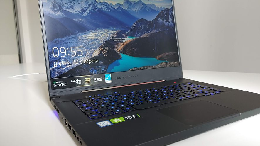 Laptop Asus ROG Zephyrus S GX502. Mały, ale wariat