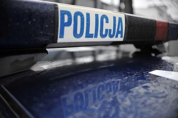 Policja prowadziła na miejscu czynności służbowe